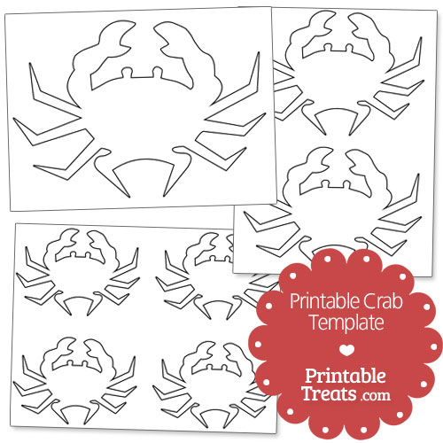 picture about Crab Stencil Printable called Printable Crab Template Printable
