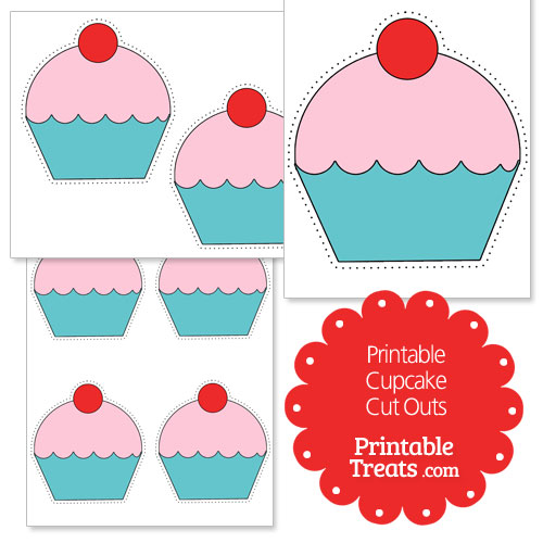 Free Printable Images Of Cupcakes : Printable Cupcake Cut Outs   Printable Treats.com