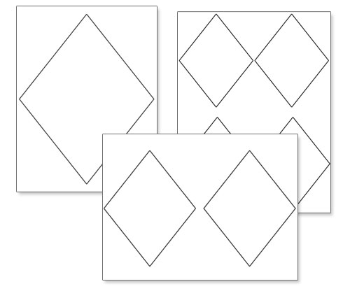 image relating to Diamond Printable identified as Printable Diamond Styles Printable