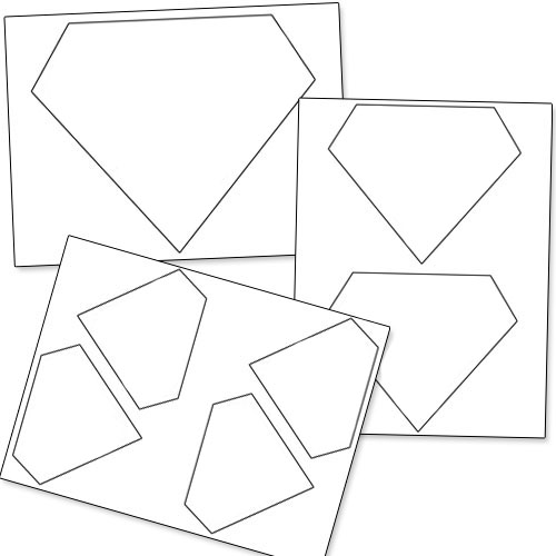 photo about Diamond Template Printable called Printable Diamond Template Printable
