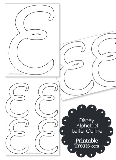 Printable Disney Letter E Outline Printable Treats Com