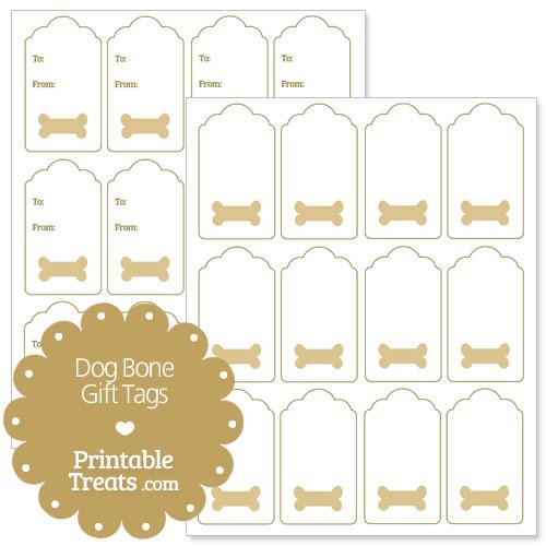 Printable Dog Bone Gift Tags — Printable Treats.com