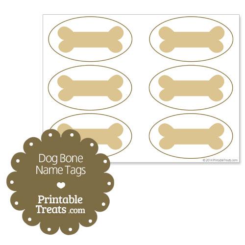 Printable Shapes With Names Printable Dog Bone Name Tags