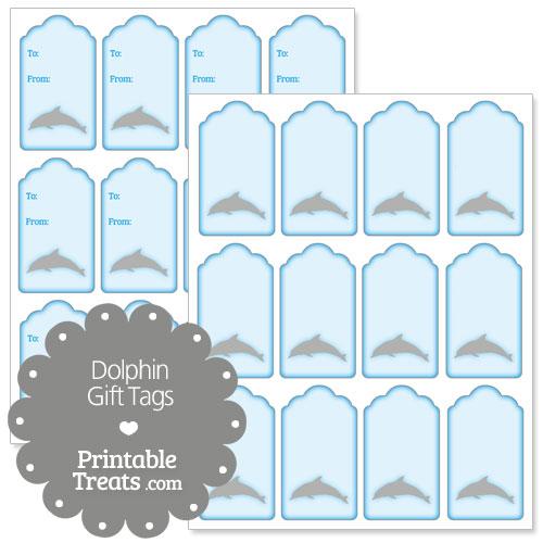 printable dolphin gift tags printable