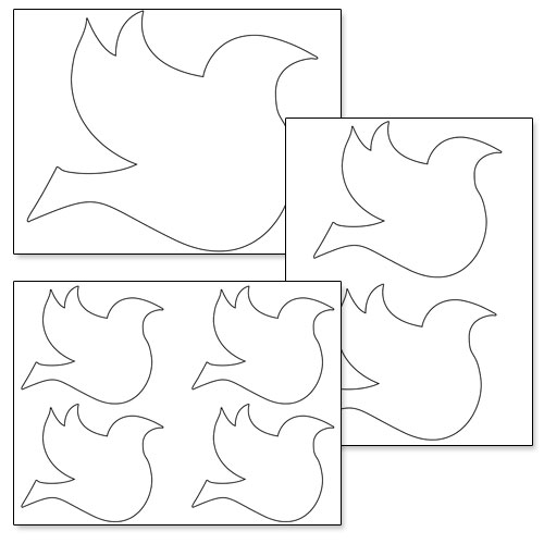 picture regarding Printable Dove Template referred to as Absolutely free Printable Dove Stencil Printable