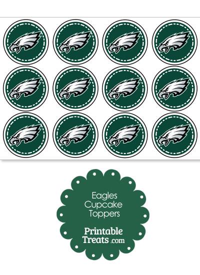 Printable Eagles Logo Cupcake Toppers Printable Treats Com