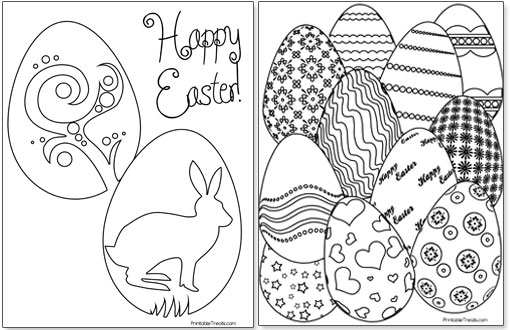 Printable Easter Egg Coloring Pages Printable Treats Com