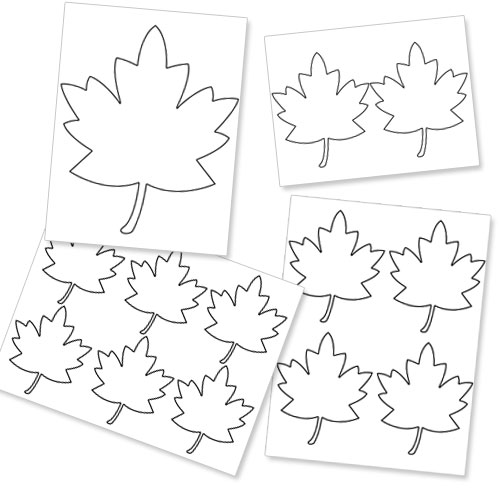 Printable Fall Leaf Template — Printable Treats.com