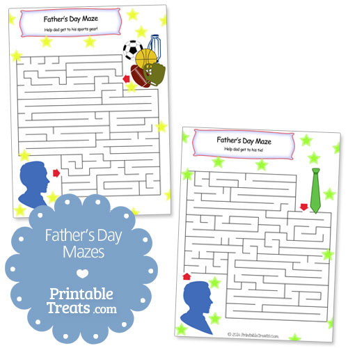 printable fathers day mazes