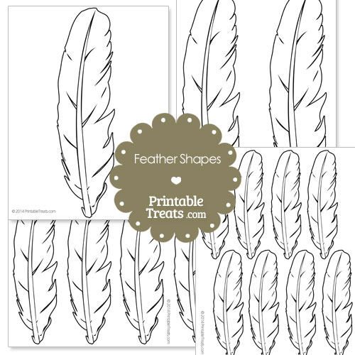 image regarding Feather Printable named Printable Feather Form Templates Printable