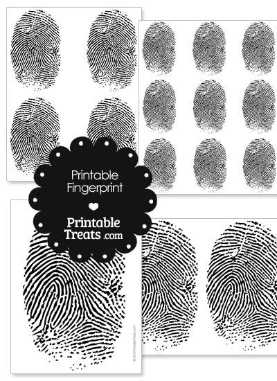 Printable Fingerprint — Printable Treats com