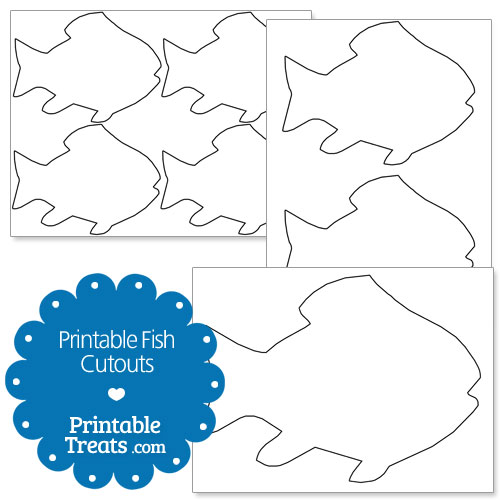 image regarding Fish Cutouts Printable identified as Printable Fish Cutouts Printable