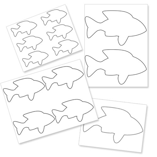 Outlines Printables Printable Fish Outline