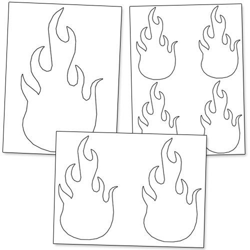 Printable Flame Stencils — Printable Treats.com