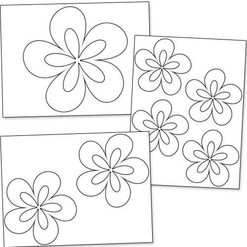 Dynamic image in printable flowers stencils