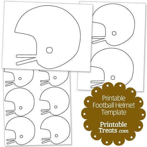 Printable Football Helmet Template — Printable Treats.com