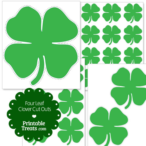 printable four leaf clover cut outs - Four Leaf Clover Printable
