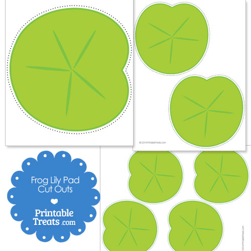 Crafty image pertaining to printable lily pads