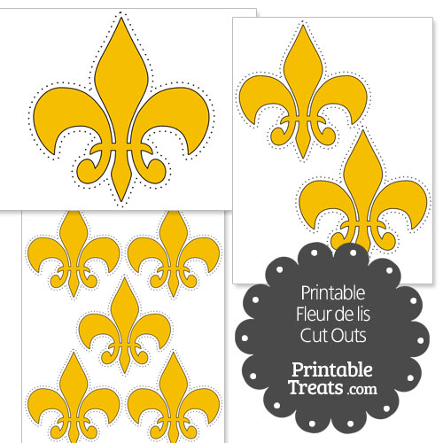 picture relating to Fleur De Lis Printable identified as Printable Gold Fleur-de-Lis Minimize Outs Printable