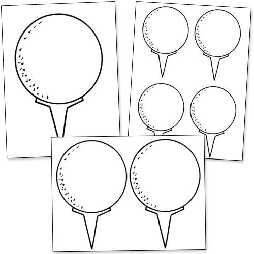 printable golf balls