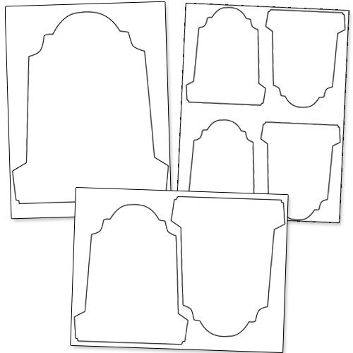 Printable gravestone template printable for Tombstone templates for halloween