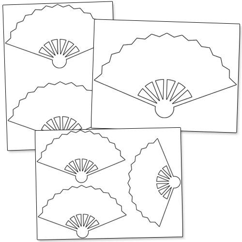 Printable Hand Fan Template — Printable Treats.com