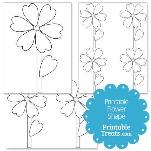 Printable heart shaped leaf flower template printable treats printable heart shaped leaf flower template pronofoot35fo Images