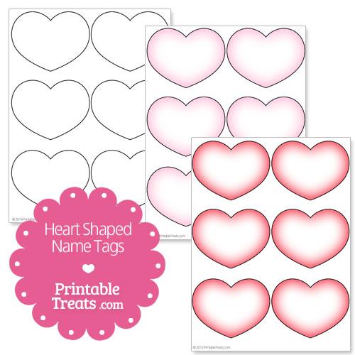Printable Shapes With Names Printable Heart Shaped Name