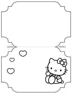 printable hello kitty card template  printable treats, Birthday card