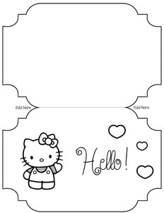 printable hello kitty card template printable hello kitty card template