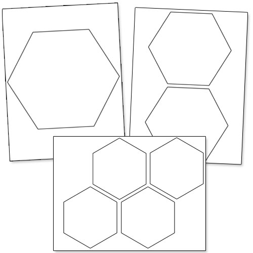 Number Names Worksheets hexagon printable template : Printable Hexagon Template — Printable Treats.com