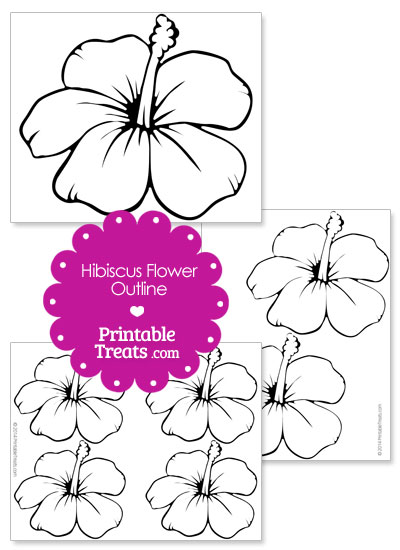 printable hibiscus flower outline  u2014 printable treats com