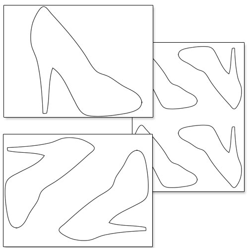 Printable high heel shoe template printable for High heel shoe template craft