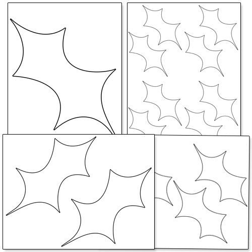 Printable Holly Leaf Template — Printable Treats.com