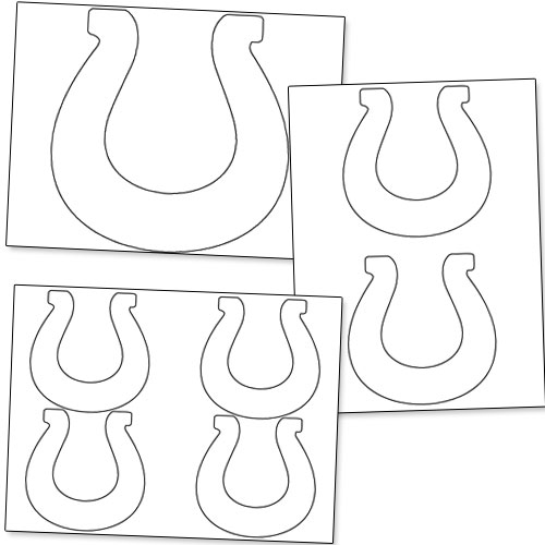 Printable Horseshoe Stencils  Printable Treatscom