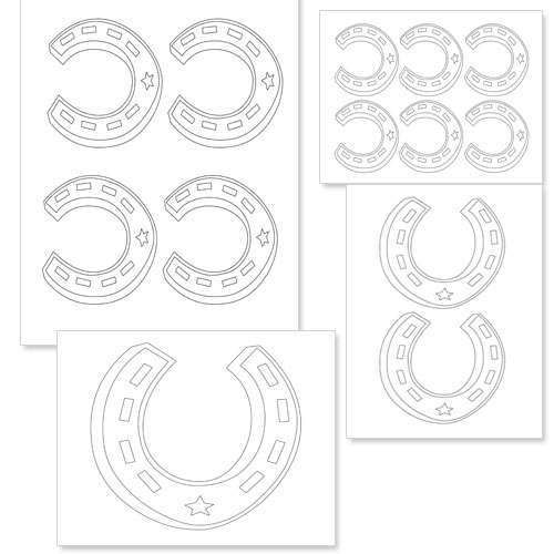 Printable Horseshoe Template  Printable Treatscom