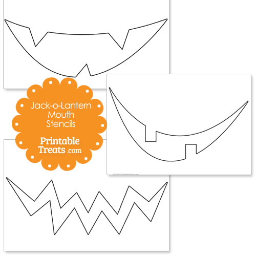 photograph about Printable Jack O Lanterns named Printable Jack o Lantern Mouth Printable