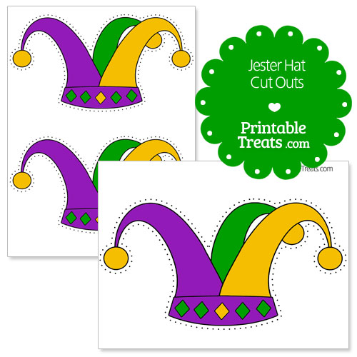 printable jester hat cut outs