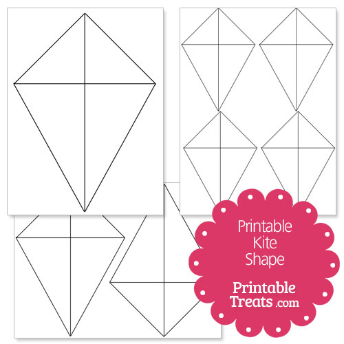 Printable Kite Shape Template  Printable TreatsCom