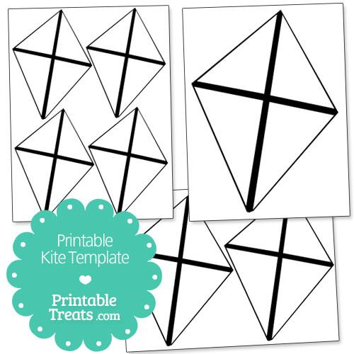 printable kite template printable. Black Bedroom Furniture Sets. Home Design Ideas