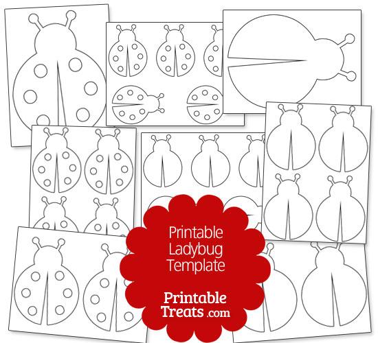 Printable Ladybug Template — Printable Treats.com
