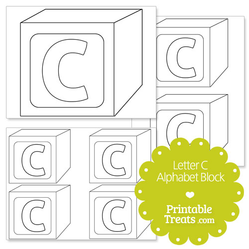 picture relating to Block Letters Printable named Printable Letter C Alphabet Block Template Printable