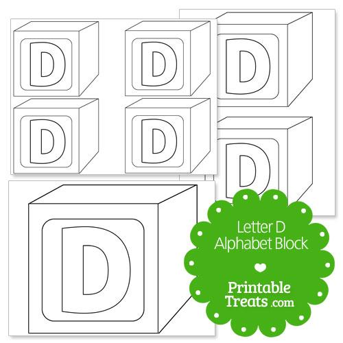 Printable Letter D Alphabet Block Template Printable Treats Com