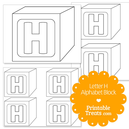 Printable letter h alphabet block template printable treats printable letter h alphabet block template pronofoot35fo Gallery