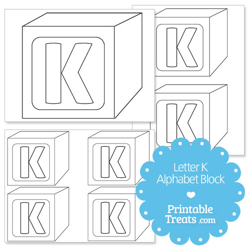 printable letter k alphabet block template