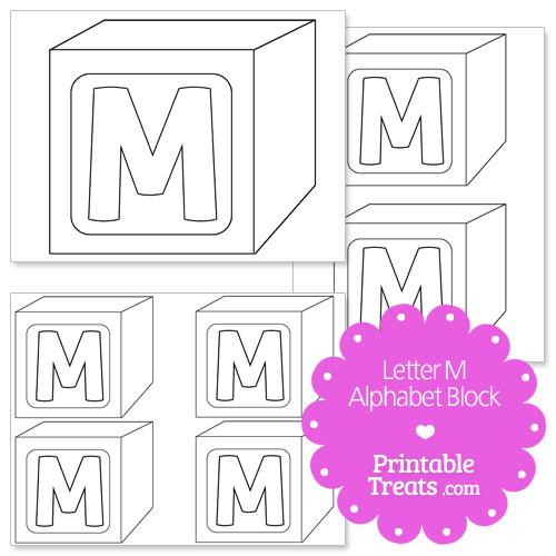 Printable letter m alphabet block template printable treats printable letter m alphabet block template spiritdancerdesigns Images