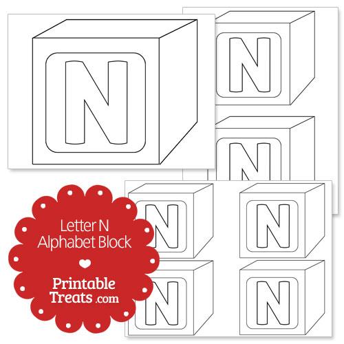 Printable letter n alphabet block template printable treats printable letter n alphabet block template maxwellsz