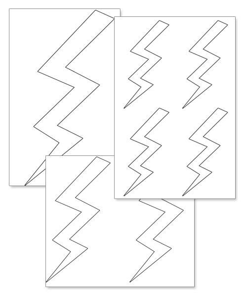 printable lightning bolts printable treats com