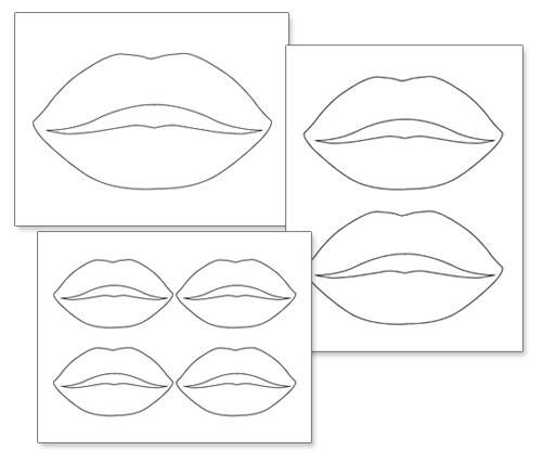 picture about Lip Printable identified as Printable Lip Templates Printable