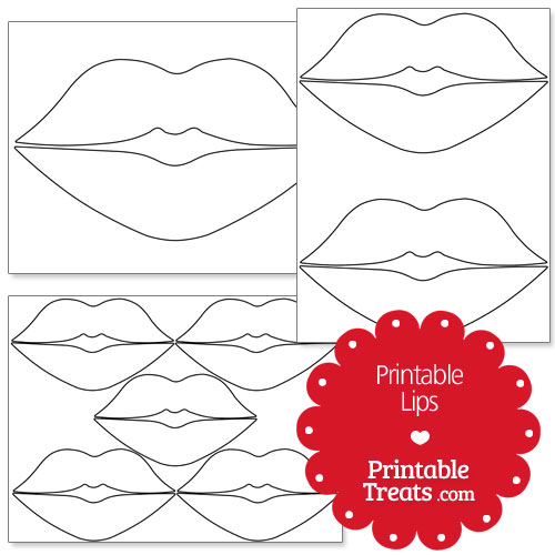 graphic about Printable Mustache and Lips identified as Lip Designs Printable